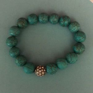 Stella and Dot Turquoise and Pave bracelet.